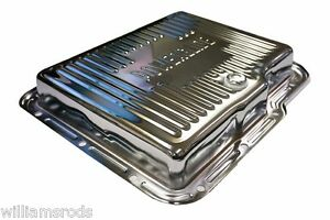 Power Glide Chevy Transmission Pan Chrome Steel Rat Rod Parts Hot Rod Street