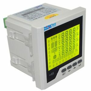 Intelligent Multifunction 3p Three phase Lcd Digital Network Power Meter 96 96mm