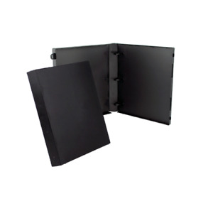 Unikeep 3 Ring Binder Black 1 5 Inch Spine W Clear Overlay Box Of 15