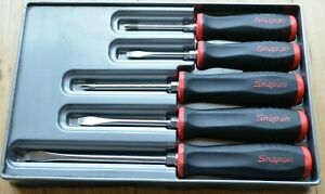 Snap On 5 Piece Screwdriver Set Soft Touch Good Condition