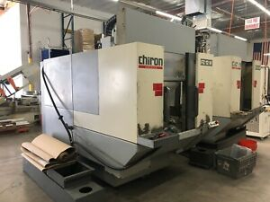 2 Chiron Fz 12w Cnc Vertical Milling Machines 3 Axis Dual Pallet