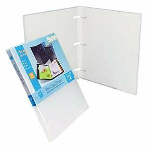 Unikeep 3 Ring Case Binder White 0 50 Inch Spine No Overlay Box Of 36