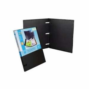 Unikeep 3 Ring Binder Black 1 0 Inch Spine No Overlay Box Of 20