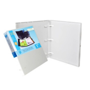 Unikeep 3 Ring Binder White 1 0 Inch Spine No Overlay Box Of 20