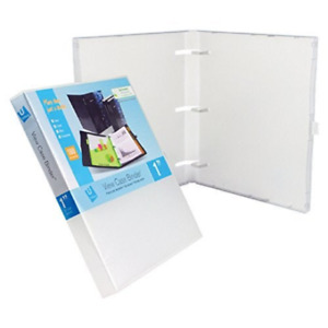 Unikeep 3 Ring Binder Clear 1 0 Inch Spine No Overlay Box Of 20
