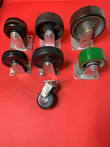 Lot Of 7 Misc Caster Wheels 1 6 2 5 3 4 1 3