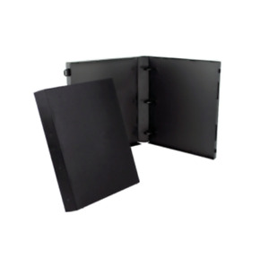Unikeep 3 Ring Binder Black 1 5 Inch Spine No Overlay Box Of 15