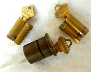 1 Schlage Rim Cylinder Housing With 3 Core And 3 Keys