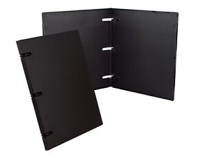 Unikeep 3 Ring Binder Black 0 5 Inch Spine W Overlay Box Of 36