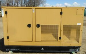 80 Kw Olympian Ford Natural Gas Or Propane Generator Genset Load Bank Test