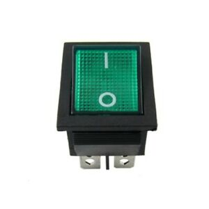 Neon Green Light 4 Pin Dpst On off Snap In Rocker Switch 15a 125v Ac 193 Pieces