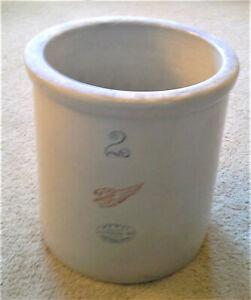 Vintage Red Wing Potteries 2 Gallon Crock No Chips Or Cracks Stunning