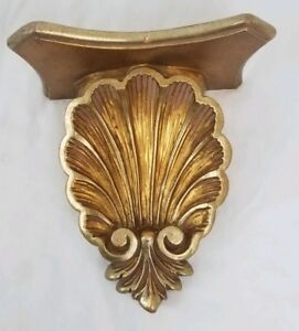 Art Nouveau Wall Sconce Corbel Decor Florentine Hollywood Regency Vintage 13 5