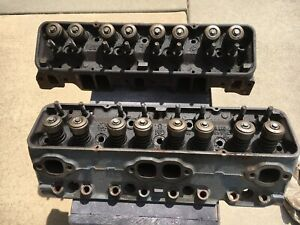 1965 Sbc Cylinder Heads Pair 3782461 Chevy 64 Cc Double Hump Heads