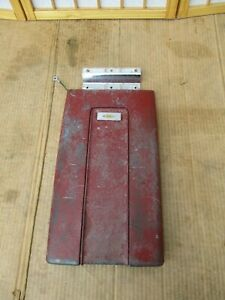 67 79 Chevy Truck Oem Gm Center Console Cover Armrest Lid Red For Bucket Seats