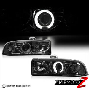 98 04 Chevy S10 Blazer Pickup Halo Angel Eyes Projector Smoke Led Headlight Lamp