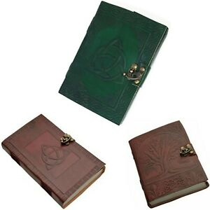 Leather Journal Tree Of Life Writing Notebook Travel Diary Art Sketchbook