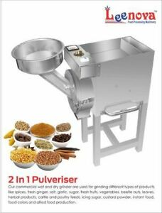 Stainless Steel Compact 2 In 1 Food Pulverizer 2 Hp Continuous Hammer ss Series