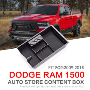 Fit For Dodge Ram1500 Center Console Organizer Tray Storage Box 2009 2017 Truck
