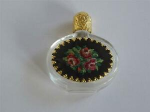 Rare Old Beautiful Miniature Perfume Bottle Art Nouveau