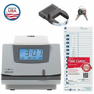 Multi purpose Electric Time Clock Lcd Document Stamp Card Punch Employee Track