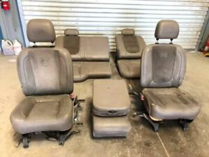 04 Dodge Ram 3500 Crew Cab Front Rear Leather Power Seats Console Tan Taupe