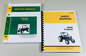 Technical Service Manual Parts Catalog For John Deere 2640 Tractor Repair Shop