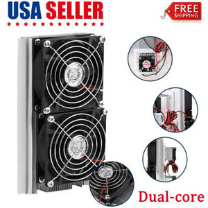 Dual core Thermoelectric Peltier Refrigeration Cooling System Radiator Cooler