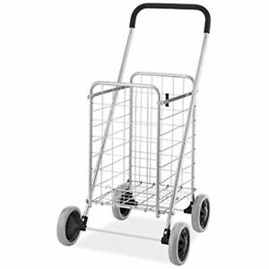 Heavy Duty Utility Durable Folding Shopping Cart Collapsible Sturdy Rolling New