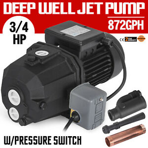 3 4 Hp Shallow Or Deep Well Jet Pump W pressure Switch 141 Ft Deep Well 0 55kw