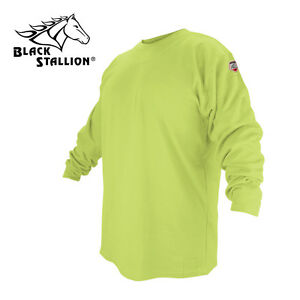 Black Stallion Ftl6 lim Lime Flame Resistant Cotton Long sleeve T shirt Xl