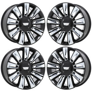 22 Cadillac Escalade Platinum Gloss Black Wheels Rims Factory Oem 4740 Exchange