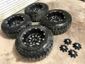 04 Ford F350 Super Duty Set Of 4 Aftermarket Adr 20 Wheels 37x12 50 20 Tires