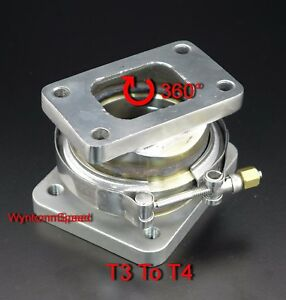 T3 To T4 Turbo Inlet V Band Stainless Steel Rotation Conversion Adapter Flange