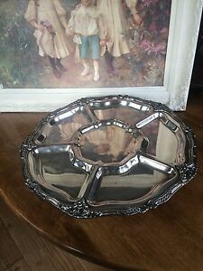 Silver Plated Lazy Susan Serving Tray 19