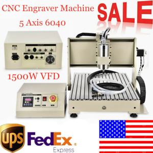 5axis 6040 Cnc Router Engraver Engraving Machine 3d Cutter Usb Vfd Water Cooled