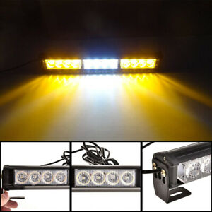 12 Led Emergency Truck Strobe Flash Light Amber White Amber Universal 14 Inch