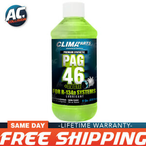 Premium Synthetic Ac Refrigerant Oil Pag 46uv Vis 8oz For R134a Systems