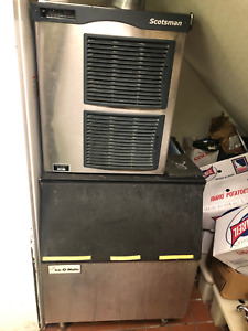 Scotsman Icemaker 800 Nugget Ice Machine Restaurant Use 800 Of Ice With Bin