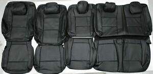2015 2018 Ford F150 Xlt Super Crew Cab Black Leather Upholstery Seat Cover Set