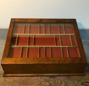Vintage Showcase Country Store Display Case Cabinet For Collectibles Jewelry