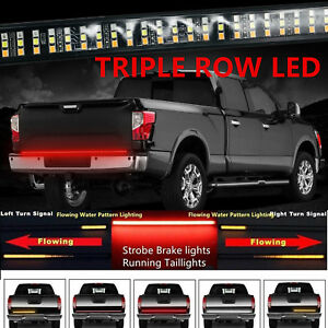 60 Tailgate Led Bar Strip Sequential Turn Signal Back Up Brake Light For Ram