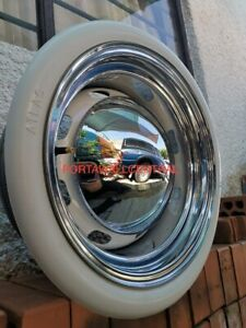 Old Tire Style 4x15 Tire Rubber White Wall Trim 2 Wide Chevy Bel Air 150 210