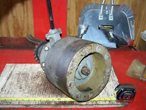 Old Fordson Antique Farm Tractor Belt Pulley Assembly Hit Miss Engine Oiler Nice