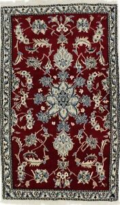 Hand Knotted Classic Floral Nain Kashmar 3x5 Persian Rug Oriental D Cor Carpet
