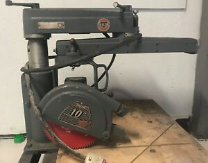 Delta Rockwell 30 c 10 Inch Radial Arm Saw vintage no Reserve