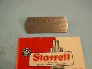 Starrett No 286 Number Drill Steel Wire Gage 61 80 Tool Maker Machinist Other