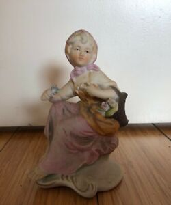 Vintage Hungarian Porcelain Figurine Set Early 20th Century Boy And Girl