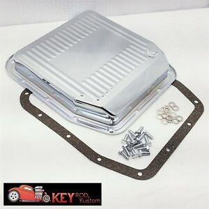 Ford Aod Chrome Transmission Pan Mustang F150 Truck Stock Capacity Hardware