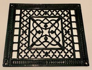 Antique Cast Iron Wall Art Grate Primitive Hardware Refurbished Back Like It Was